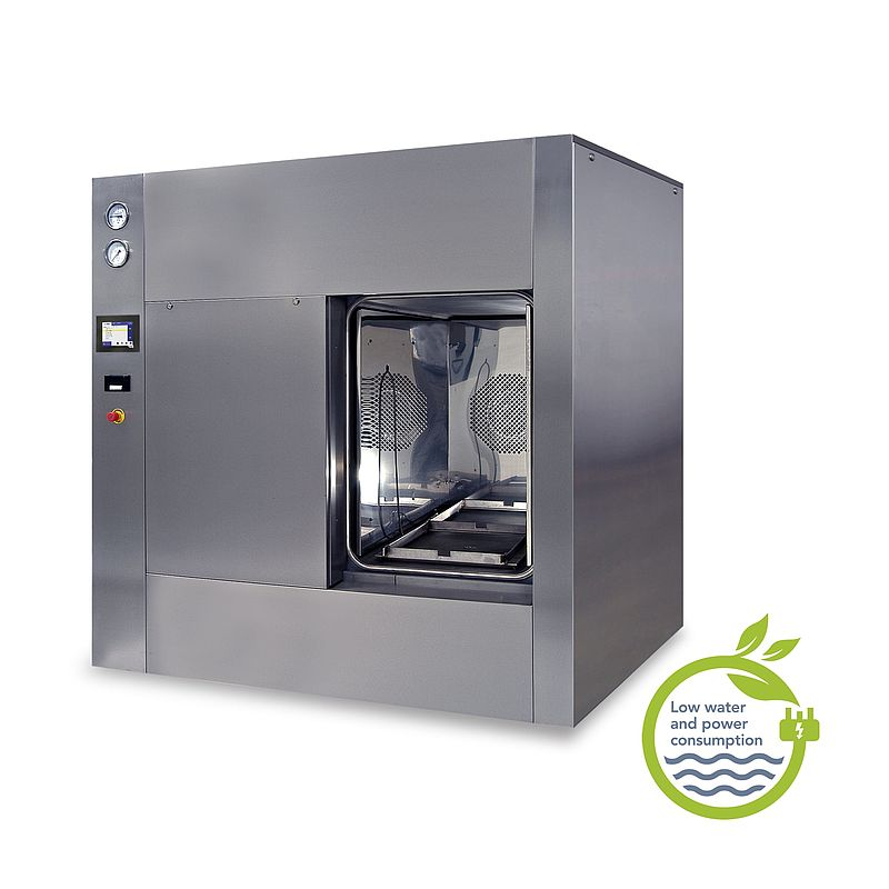 Bulk SQUARE autoclave (fitted with optional stainless steel panels)