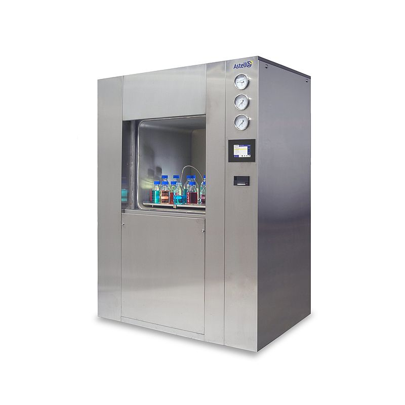 Medium SQUARE autoclave (fitted with optional stainless steel panels)