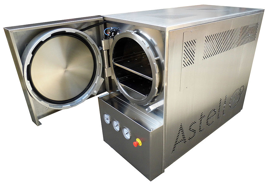 STAINLESS STEEL 120 LITER CIRCULAR AUTOCLAVE
